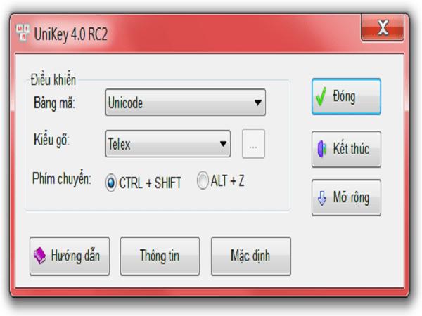 Cách tải unikey 4.0 và hướng dẫn sử dụng unikey 4.0